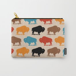 Colorful Buffalo Bison Pattern 278 Carry-All Pouch