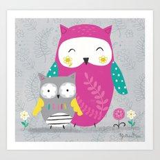 Owl Lover  Art Print