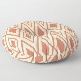 Checkered Pattern Rhombos Patterns Red Floor Pillow