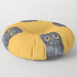 Scottish Short Hair Black Floor Pillow