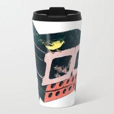 Brick Crossbones and a Bird Metal Travel Mug