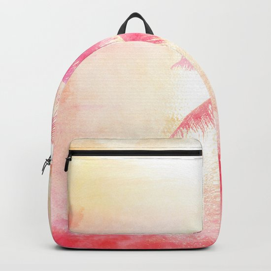 Summer Sea, Sunset at Palm Beach Backpack