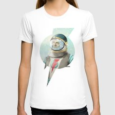 Stardust to Stardust White LARGE Womens Fitted Tee