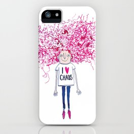 I love Chaos iPhone Case