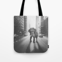 Elephant in the city Tote Bag