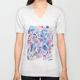 Plums and berries Unisex V-Neck