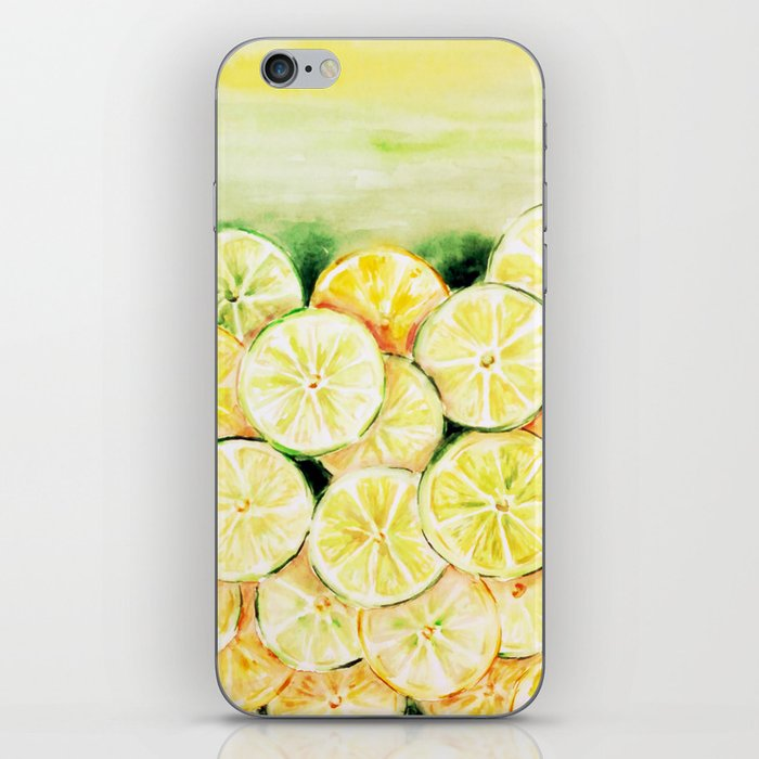 Limes and lemons iPhone Skin