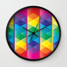 Rainbow Cube Wall Clock