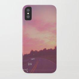run away road iPhone Case
