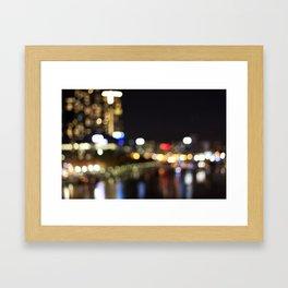 Light Art | Melbourne city (Yarra River) Framed Art Print