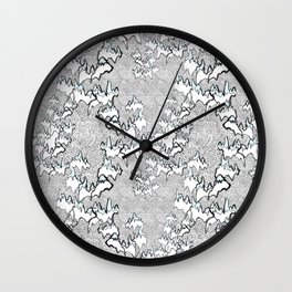 Flying over the mountains Wall Clock