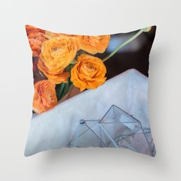flower photography by Fabio Issao Throw Pillow