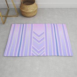 stripes 2 purple color gradient  Rug