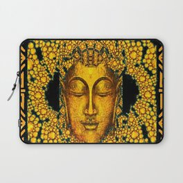 ART DECO DARK GOLD BUDDHA BLACK ABSTRACT Laptop Sleeve