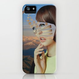 Lost Inside the Fragments of a Dream iPhone Case