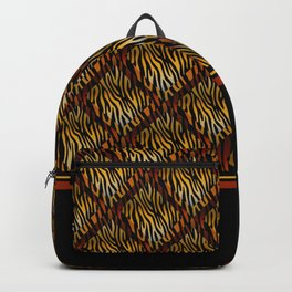Tiger Stripe Mosaic Tile Modern Abstract Backpack