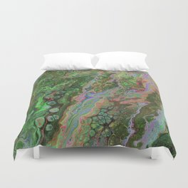 Green Inverted Pour 6 Duvet Cover