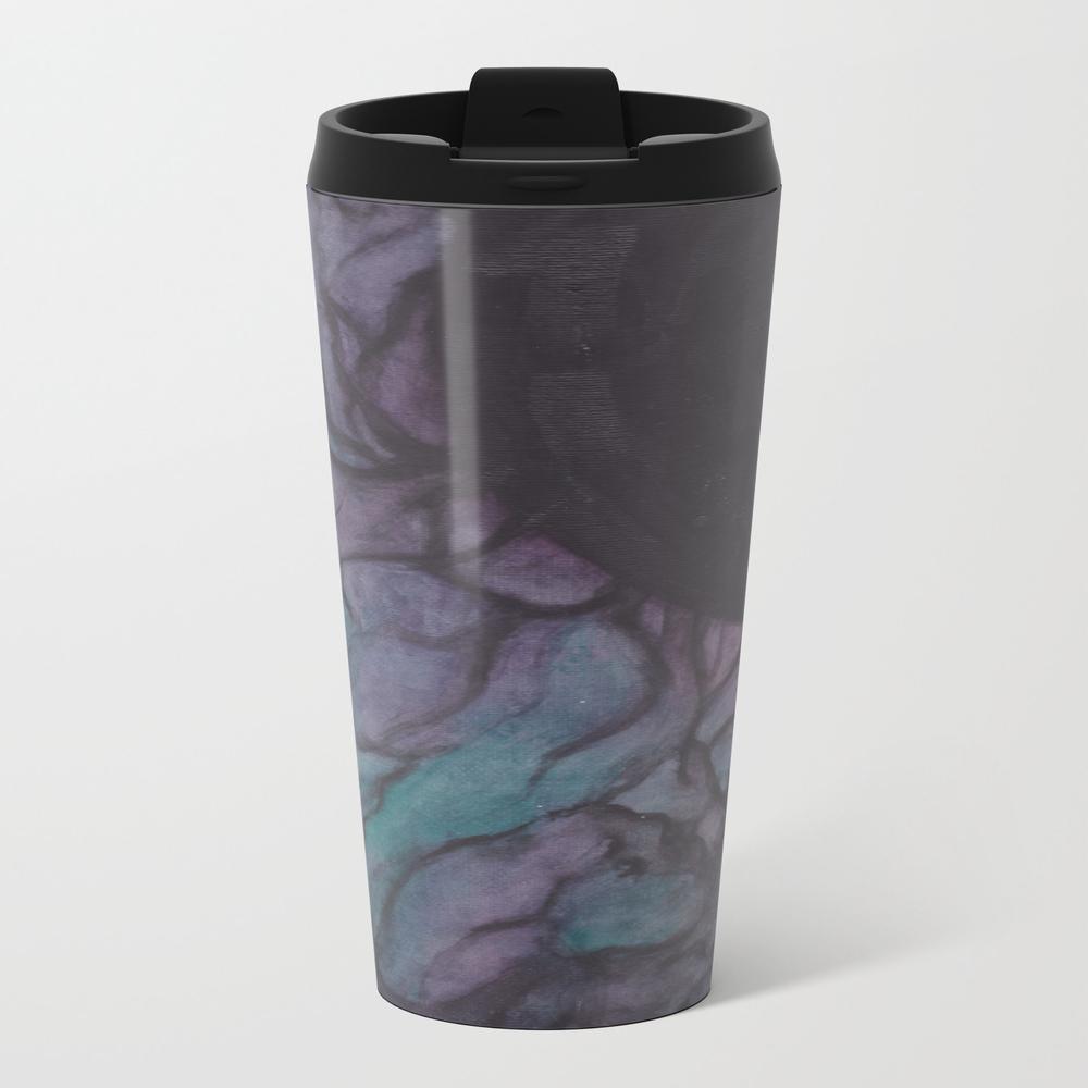 Black Veins Metal Travel Mug by Catclaww MTM8910655