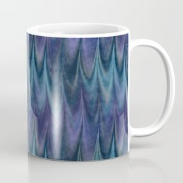 Blue Abstract Feather Pattern Coffee Mug
