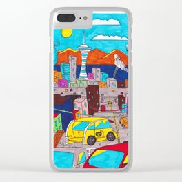 Sunset City Clear iPhone Case