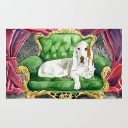 Royal Basset Hound Rug