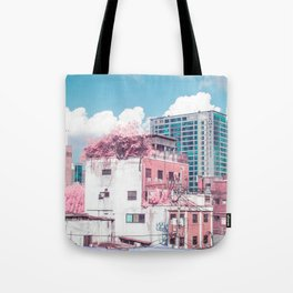 Pink and Blue Seoul Tote Bag