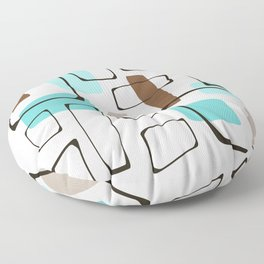 Midcentury Modern Shapes Floor Pillow