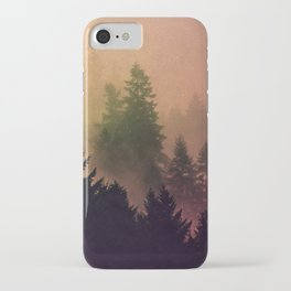 Cascadia Green Trees and Sunset iPhone Case