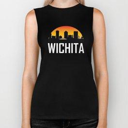 Sunset Skyline of Wichita KS Biker Tank