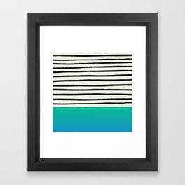 Mermaid & Stripes Framed Art Print