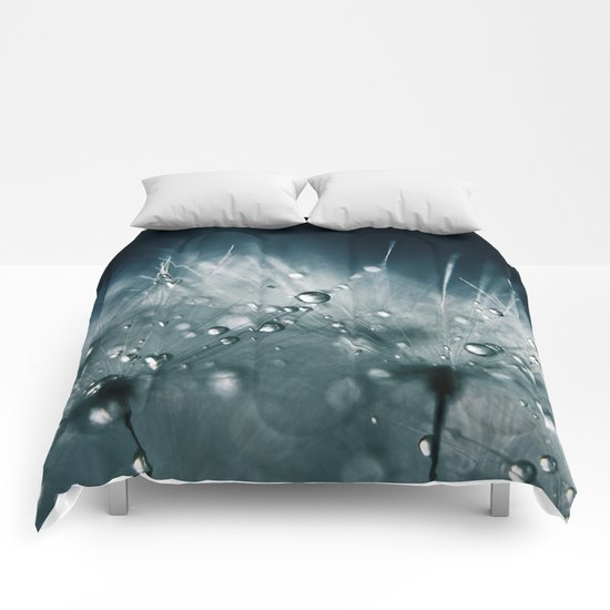 dandelion teal Comforters