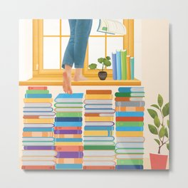 Books! Metal Print