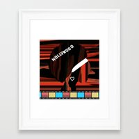 hollywood Framed Art Prints featuring Hollywood by AndISky