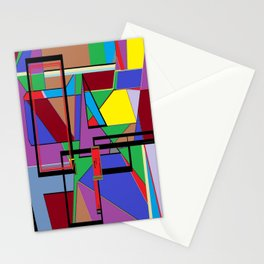 Geometry - Shape on Shape Stationery Cards