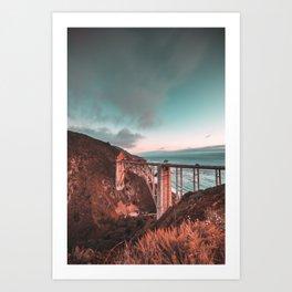 Bixby Bridge Sunset Art Print