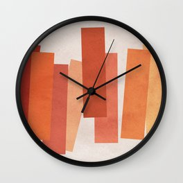 Red Interaction of Color • Expressionism • Geometric abstraction • Modern abstract art • Colorblock Wall Clock