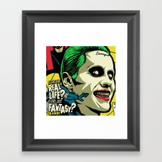 Is This The Real Life? Framed Art Print