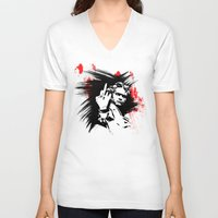 beethoven V-neck T-shirts featuring Beethoven FU by viva la revolucion