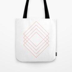 Peach Modern Squares Tote Bag