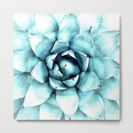 Succulent - A Watercolour Mandala Metal Print