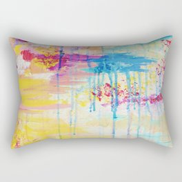BRIGHTER DAYS - Beautiful Soft Pastel Colours Painting Rain Cloud Sunny Sky Abstract Nature Acrylic Rectangular Pillow