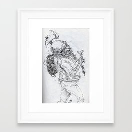 Choppa Choppa Framed Art Print