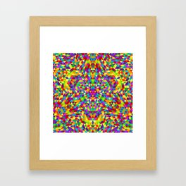 Happy triangle mandala 2 Framed Art Print