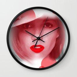 RED Dot Wall Clock
