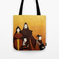 zuko Tote Bags featuring Happy Family by wolfanita