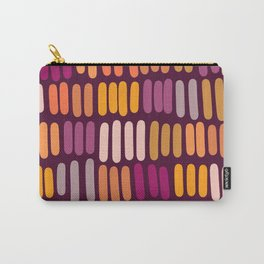 Abstract dashes in pinks & yellows Carry-All Pouch
