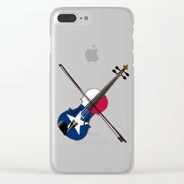 Texas Fiddle Clear iPhone Case