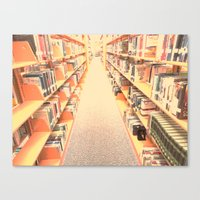 library Canvas Prints featuring Library by AmeeVee