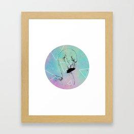 Retro Flamingo Framed Art Print