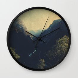 mountains VII Wall Clock